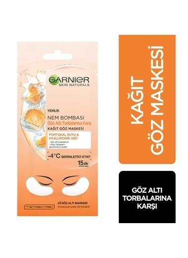 Garnier Garnier Nem Bombası Göz Altı Torbalarına Karşı Kağıt Göz Maskesi Renksiz
